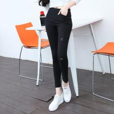 Harga Model Musim Gugur Pakaian Luar Legging Celana Kaki Celana Pensil Bagian Tipis Hitam Baju Wanita Celana Wanita Oem Terbaik
