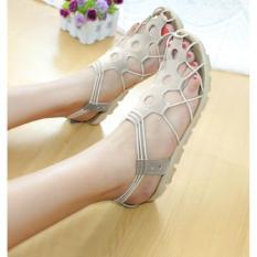 Spesifikasi Model Sepatu Terbaru Sandal Flat Shoes Wanita Bahan Ku Limited Cream Terbaru