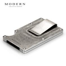 Modern Dompet Logam Penerbangan Terbuat dari Aluminium Dompet Pria dan Wanita (Retro model)