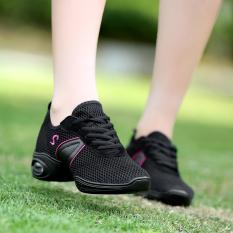Modern Permukaan Jala Bernapas Plaza Sepatu Dansa Sepatu Dansa 699 Hitam 9Doo Diskon 40