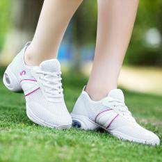 Jual Modern Permukaan Jala Bernapas Plaza Sepatu Dansa Sepatu Dansa 699 Putih Sepatu Wanita Flat Shoes Tiongkok Murah