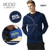 Beli Modig Jaket Polos Basic Fleece Jaket Hoodie Pria Wanita Jacket Zipper Korea Jk 01 Navy Blue Lengkap