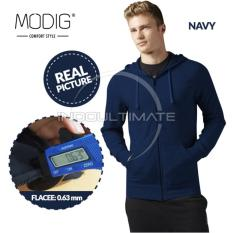 Jual Modig Jaket Polos Basic Fleece Jaket Hoodie Pria Wanita Jacket Zipper Korea Jk 01 Navy Blue Ultimate Asli
