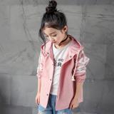 Toko Modis Anak Perempuan Katun Kasual Berkerudung Setengah Panjang Model Gadis Jaket Angin Merah Muda Warna Yang Bisa Kredit