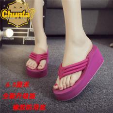 Modis Handuk Kain Wanita Sol Tebal Sandal atau Sandal Sandal Jepit (6.5 Emas Merah)