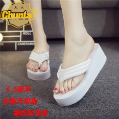 Modis Handuk Kain Wanita Sol Tebal Sandal atau Sandal Sandal Jepit (6.5 Putih)