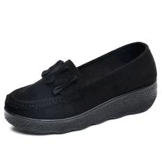 Jual Modis Musim Semi Dan Musim Gugur Perempuan Baru Bekerja Sepatu Kain Sepatu Kulit Kacang Hitam D 23 Original