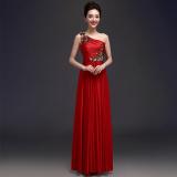 Beli Barang Modis Bahu Slim Menikah Gaun Baju Pelayanan Merah Online