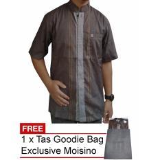 Moisino Baju Koko Eksklusif Lengan Pendek Hitam