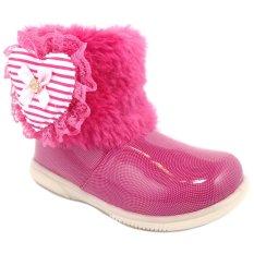 Diskon Momoyo Sepatu Boot Anak Perempuan Love Bulu Zipper Fuchsia Akhir Tahun