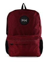 Spesifikasi Monday2Weekend M2W Bp001 Waterproof Backpack Maroon Paling Bagus
