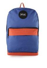 Review Pada Monday2Weekend M2W Bp004 Waterproof Backpack Blue Orange
