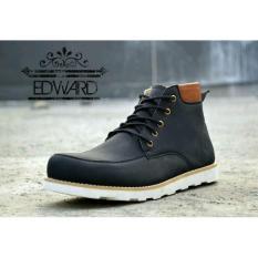 Beli Sepatu Boots Pria Moofeat Edward Black Yang Bagus