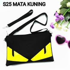 Monster Yellow Clutch Bag - Sling Bag Tas Genggam / Tas Slempang / Tas Bahu Modis
