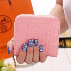 Beli Montana Dompet Wanita Zip Gracia Kulit Pu Restleting Tempat Kartu Pouch Small Leather Wallet Pink Pastel Cicilan