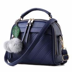 Montana Tas Branded Impor Wanita With Pompom Premium PU Leather Bahan Tebal  - Biru 25298a1d4f