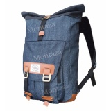 Beli Montaza Denim Backpack Vintage Roll Top Abu Jeans Tas Ransel Laptop Gulung 13049 Gear Bag