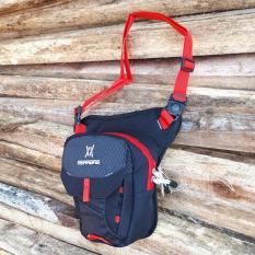 Jual Montaza Gear Sling Bag Travel Pouch Tas Selempang Pinggang Paha Waistbag Black Hitam Murah