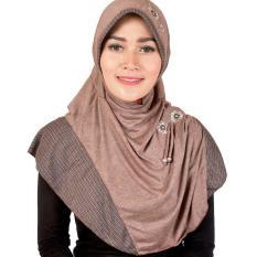 Montaza Hijab Jilbab Instan [Coklat] Kerudung Geblus Pashmina HDN865