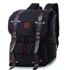 Promo Montaza Tas Ransel Laptop Backpack Canvas Hitam Sekolah Pria Wanita Kuliah Scp 171 Inficlo