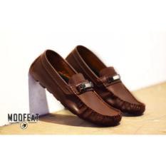 Moofeat Sepatu Moc Casual Brown