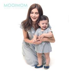 MOOIMOM Starry Sky Nursing Dress & Baby Clothes Baju Hamil Menyusui Couple Ibu Anak - Grey Girl