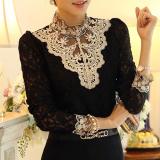 Ulasan Mengenai Moon Minggu Wanita Panjang Lengan Fashion Warna Solid Plus Ukuran Longgar Kasual Kaus Sifon Top Blus Intl