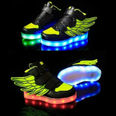 Berapa Harga Bercahaya Dirinya Diserap Jadi Anak Datar Sayap Usb Flash Dekorasi Kasual Sneakerssize 25 36 Hitam And Hijau Moonar Di Tiongkok