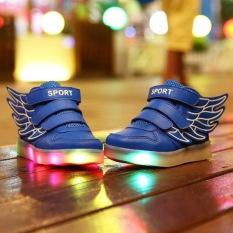 Toko Bercahaya Dirinya Diserap Jadi Anak Datar Sayap Usb Flash Dekorasi Kasual Sneakerssize 25 36 Biru Tua Moonar Terlengkap