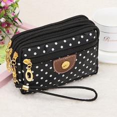 Moonar Fashion 4 ritsleting tas wanita dompet bintik koin uang kunci  Kopling yang diterima pemegang tas 14a1d3d47f