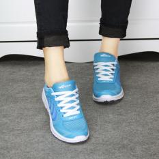 Moonar Olahraga Kasual Fashion untuk Wanita, China Kets Tali Jala Perjalanan Ukuran 36-41 (biru)