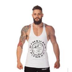 Jual Moonar Pria Gym Otot Without Lengan Kemeja Tank Top Olahraga Binaraga Hiu Kebugaran H Belakang Rompi Putih Ori