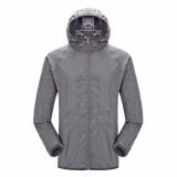 Spesifikasi Moonar Pria Wanita Anti Uv Cepat Kering Jaket Tahan Air Windproof Coat Untuk Hiking Bersepeda Panjat Grey Intl Dan Harganya