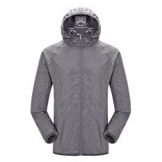 Harga Moonar Pria Wanita Anti Uv Cepat Kering Jaket Tahan Air Windproof Coat Untuk Hiking Bersepeda Panjat Grey Intl Asli Moonar
