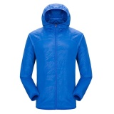 Promo Moonar Pria Wanita Anti Uv Cepat Kering Jaket Tahan Air Windproof Coat For Hiking Bersepeda Panjat Royal Biru