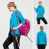Harga Moonar Pria Wanita Anti Uv Cepat Kering Jaket Tahan Air Windproof Coat For Hiking Bersepeda Panjat Sky Blue Termurah