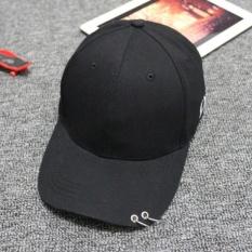Beli Moonar Unisex Hip Hop Dapat Disesuaikan Topi Bisbol Dance Pria Hat With Cincin Hitam Kredit Tiongkok