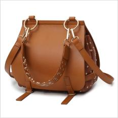 More584 Bridle Woman Shoulderbag Brown / Tas Wanita Coklat Burberry Import