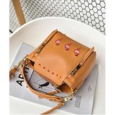 Beli More584 Flamingo Embroidery Slingbag Tas Selempang Korea Bordir Flamingo Tali Panjang Handbag Bag Tas Selempang Wanita Online