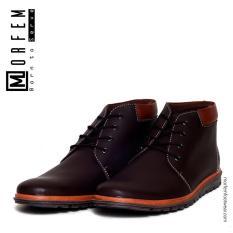 Morfem - Sepatu Boot Casual Pria - KRONOS BROWN
