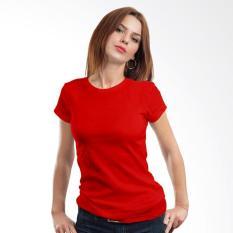 Morning Whistle Basic Crew Neck T-Shirt Wanita - Red Cardinal