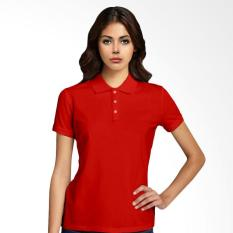 Morning Whistle Basic Polo Shirt Wanita - Red Cardinal