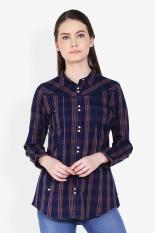 Morphidae  Women Clothing Tops Blouses & Shirts  Wanita Busana Atasan Blus & Kemeja Navy Blue Biru laut Diskon discount murah bazaar baju celana fashion brand branded