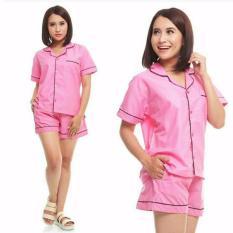 Spesifikasi Moscow Piyama Hotpants Satin Soft Pink Terbaik