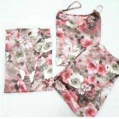 Moscow/Kimono Satin/Kimono hotpants/Kimono Bunga/Baju tidur adem/Kimono Rosella