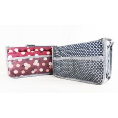 (Motif) Korea Dual Bag - Tas Organizer / Bag in bag / Tas -