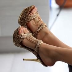 Beli Motif Macan Tutul Musim Semi Dan Musim Panas Baru Model Catwalk Sandal Hitam Other Online