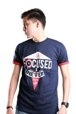 Motivized Kaos T Shirt Stay Focused And Never Give Up Tee Navy Diskon Jawa Barat