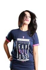 Harga Motivized Kaos T Shirt You Are Completely Fabulous Tee Navy Paling Murah