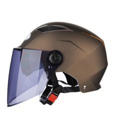 Helm Sepeda Motor Tabir Surya UV Empat Triwulanan Setengah Helm Tipe Tipe Cahaya V1 Ukuran L-Intl